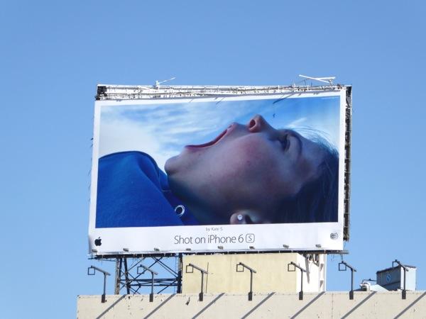 Giant Shot on iPhone 6s Kate S billboard