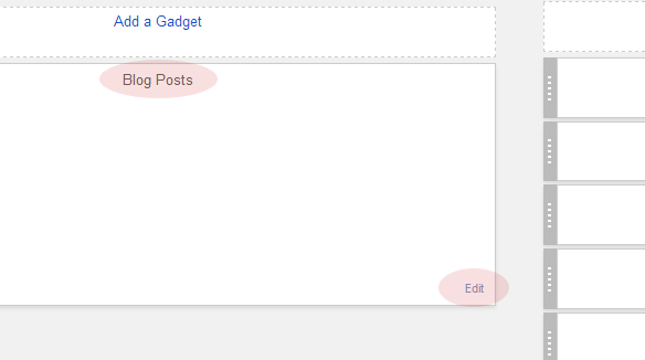 Edit Settings For Blog Posts in Blogger Templates