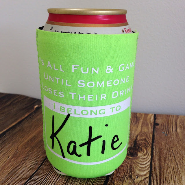 DIY, do it yourself, custom koozie, koozie, HTV, heat transfer vinyl, Silhouette Studio, free cut file