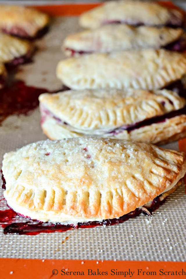 Flaky Blackberry Turnovers from Serena Bakes Simply From Scratch.