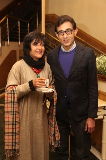 Ambika Shukla  with Television Anchor Sunit Tandon