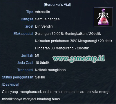 OD 70% Berseker's Vial