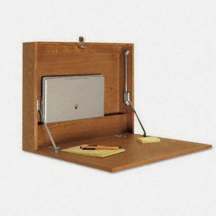 Buddy Medium Oak Wall Mounted Fold Up Desk