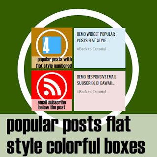 Popular Posts Flat Style Colorful Boxes