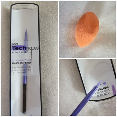 Real Techniques Silicone Liner Brush & Miracle Complexion Sponge