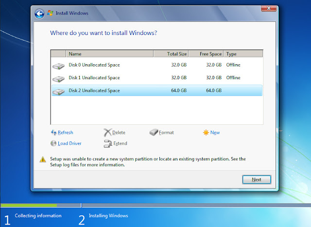 Mengatasi Setup Was Unable to Create New Partition Saat Install Ulang
