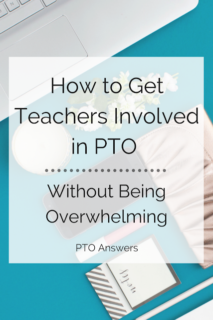 Want to have more teacher involvement in your PTA / PTO / parent group? Get the skinny on exactly how to get just that without being overwhelming. Tried and true suggestions!