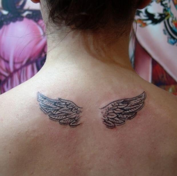 Angel Tattoo Small: 50 Gorgeous Angel Wing Tattoos Designs & Ideas (2018