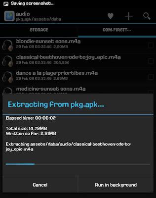 cara ekkstrak lagu di aplikasi android