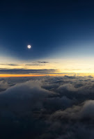 Total Solar Eclipse seen from plane