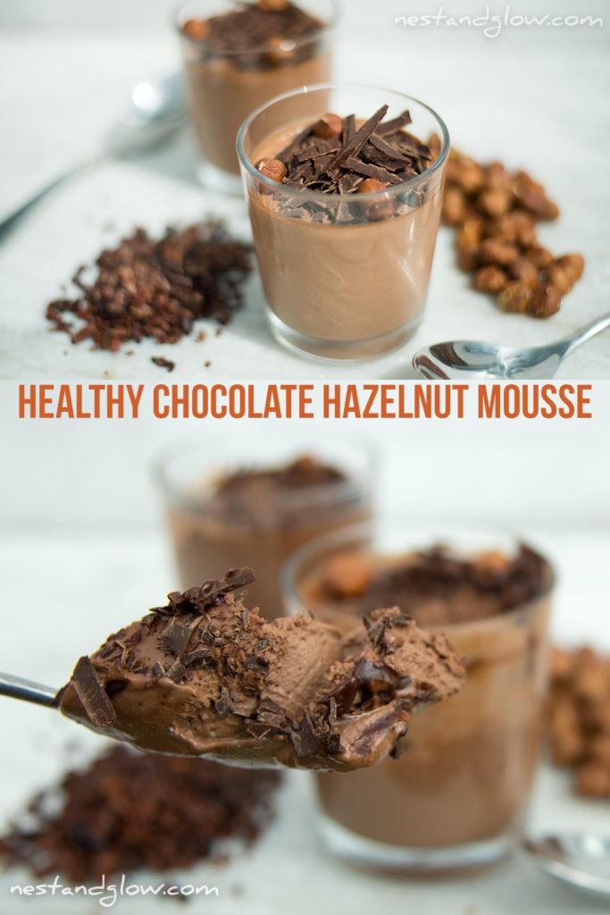 HEALTHY NUTELLA COCONUT HAZELNUT CHOCOLATE MOUSSE