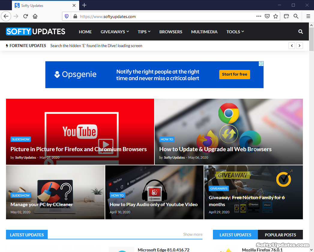 Mozilla Firefox Browser 76.0.1