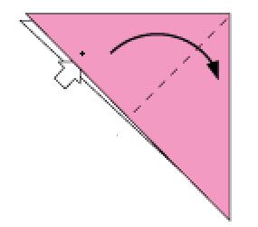 Bước 3: Từ mũi tên mở lớp giấy trên cùng ra và kéo từ trái sang phải