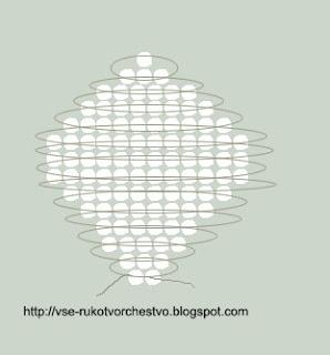 Цветок нарцисс параллельным плетением схема маленького лепестка