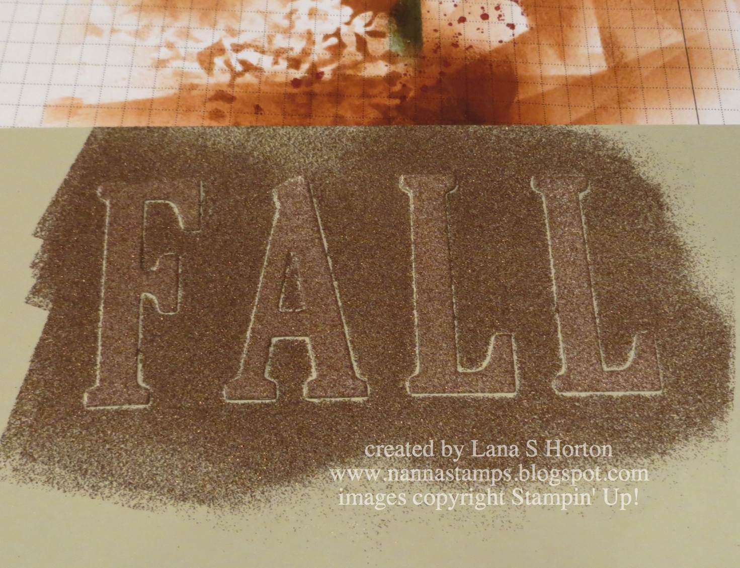 Stampin39 with nanna embossed copper letters with tutorial for Embossed letters