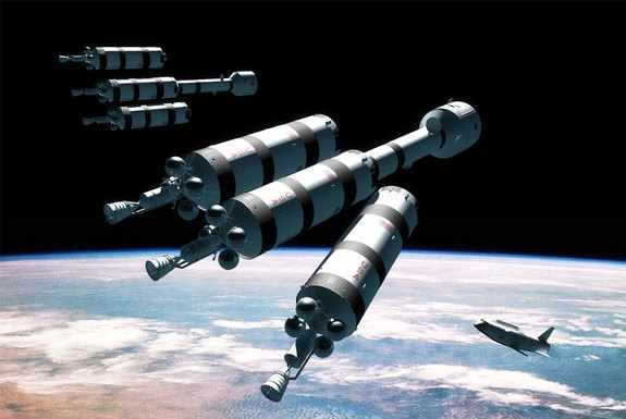 nuclear powered manned spacecraft design - photo #5