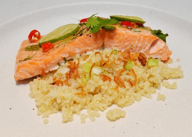 Resepi Kaffir Cili Ikan Trout Fjord Norway dengan Bubur Quinoa
