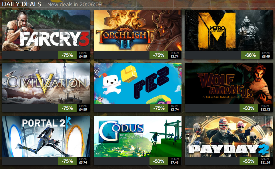 Gaming Till Dawn: NEWS: Steam Autumn Sale Day #5
