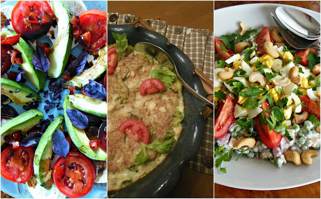 Side dishes and salads served at Our Sunday Cafe. Mostly organic, whole grain cooking and baking.
