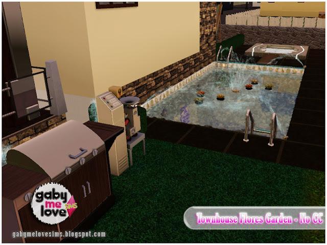 Townhouse Flores Garden |NO CC| ~ Lote Residencial, Sims 3. Piscina.