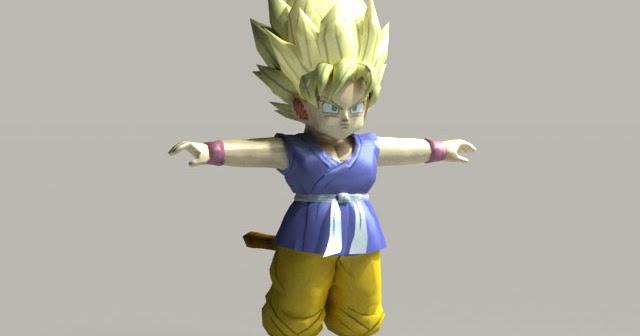 Goku 1 20super Saian Download: DOMAWE.net: Goku (Dragon Ball GT, Kid, Super Saiyan 1) 3D
