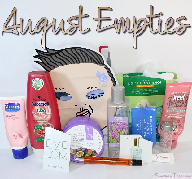 Here are the beauty products I emptied in August 2015 and for my quick impressions about each.