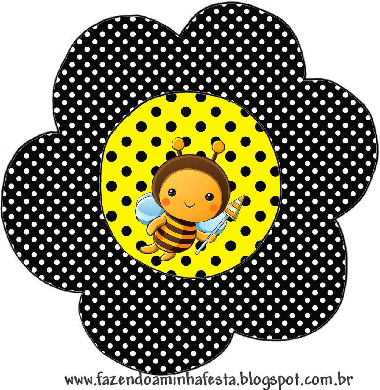 Tarjeta con forma de flor de Abejitas Bebé.