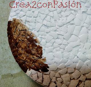 cd-con-cáscara-de-huevo-efecto-craquelado-y-pintura-marcar-grietas