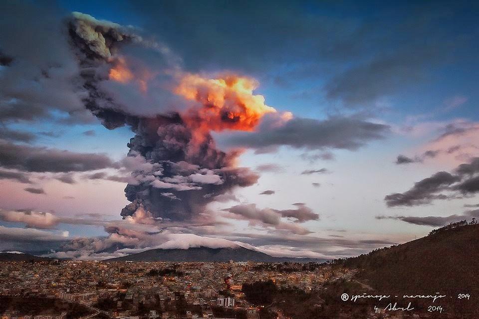 Tíz kilométeres hamuoszlopot lövellt a Tungurahua