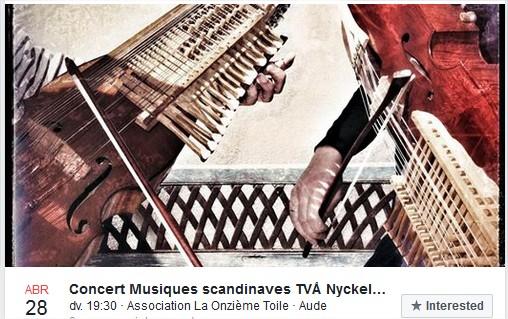 """Concert Två Nyckelharpas """"La Onzième Toile"""" Homps (11)"""