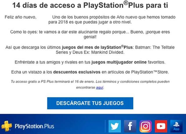 Sony regala 14 días de PlayStation Plus