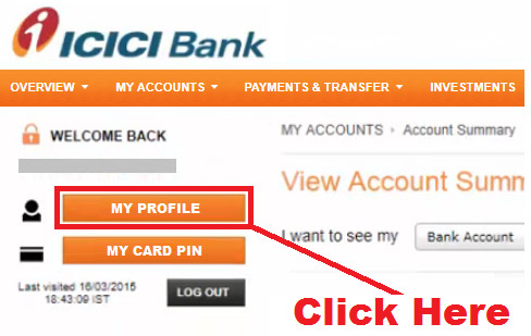 how to change icici net banking user id online