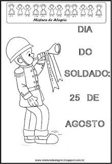 Dia do soldado para colorir