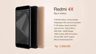 harga terbaru xiaomi redmi 4x 2017, spesifikasi redmi 4x