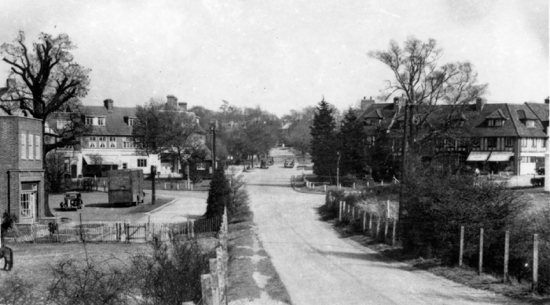Photograph of Bradmore Green from the railway station 1950