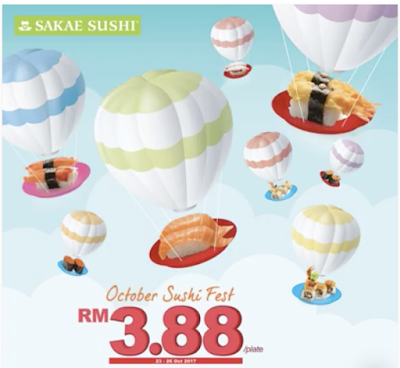 Sakae Sushi Fest Malaysia RM3.88 Plate