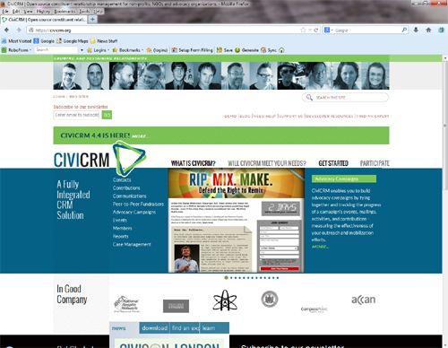 Databases For Charities: CiviCRM: A great example of Open