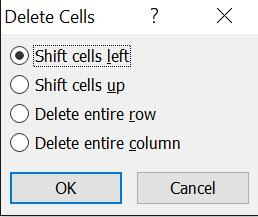 tinhoccoban.net - Hộp hội thoại Delete Cells