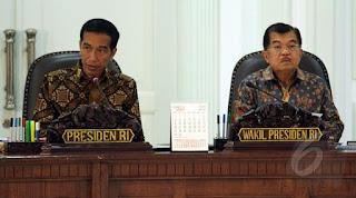 Presiden RI Joko Widodo dan Wapres RI Jusuf Kala