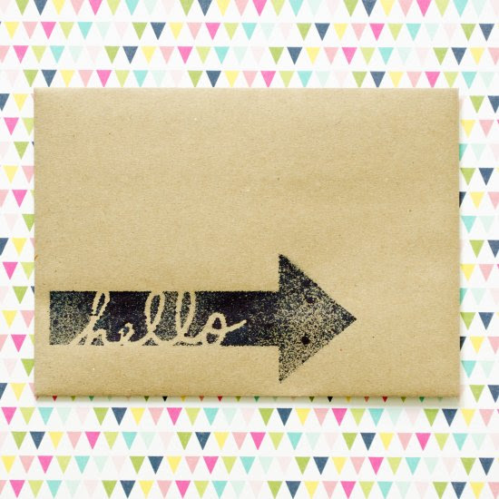 Spritzed Envelope