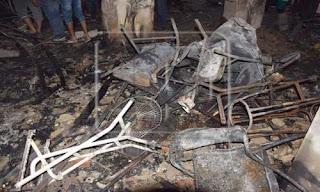 النيابة تبدأ التحقيق في حريق كنيسة الراهبات بدير القديسة دميانة