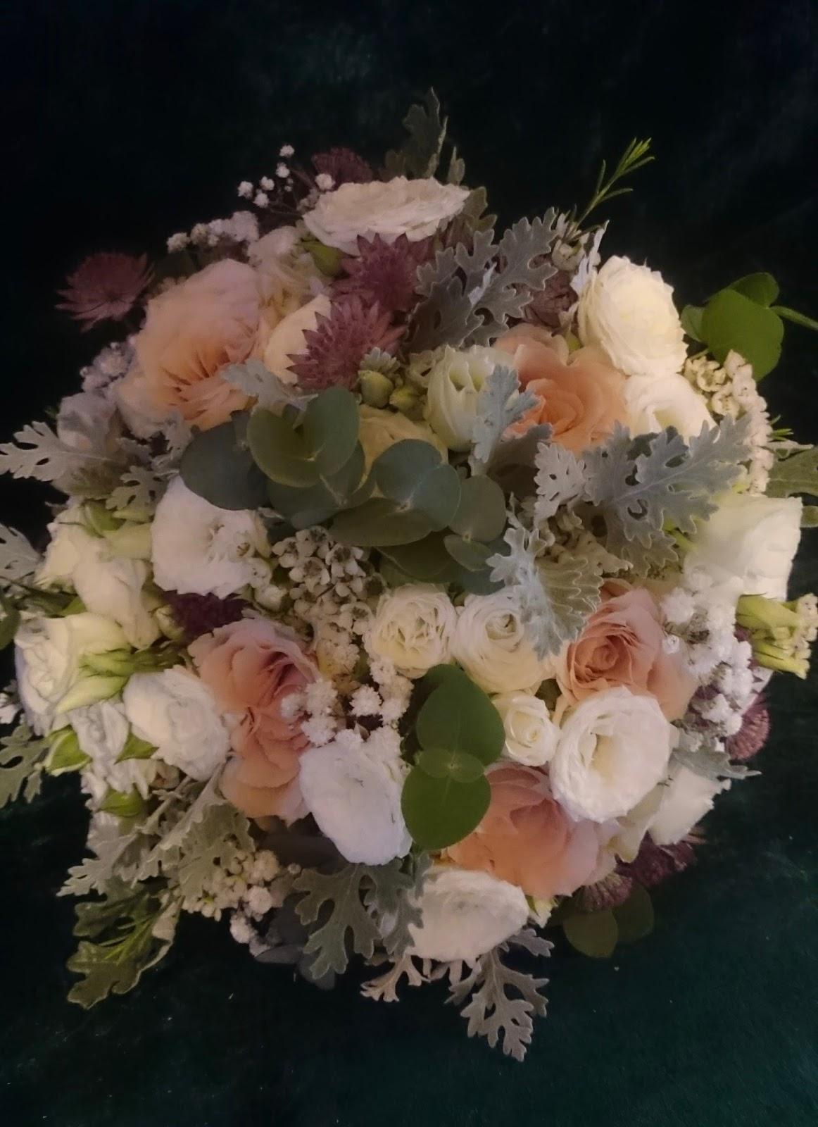 Sandras Flower Studio Blush Pink And Ivory Wedding Flower Mix For