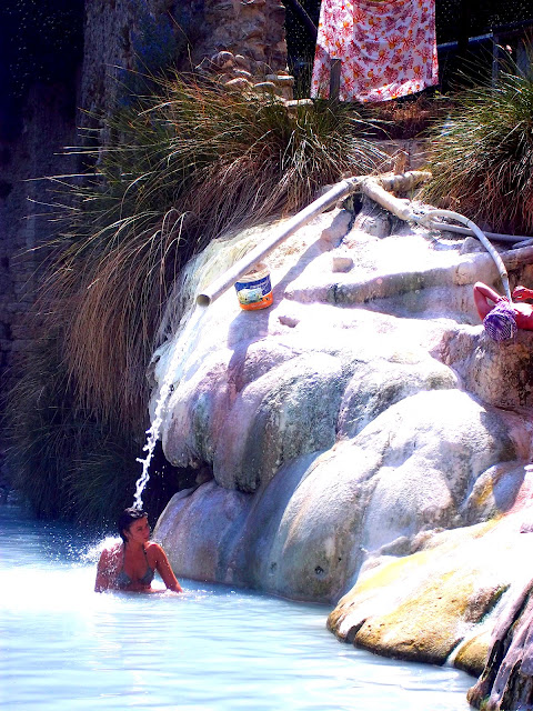 Petriolo natural hot springs in Southern Tuscany