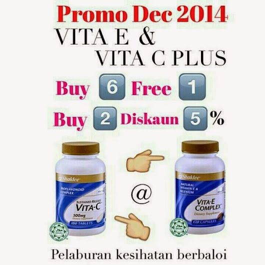 i sing like no one is listening: promosi shaklee vitamin E complex