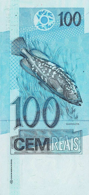 Brazil Currency 100 Reals banknote 1994 Grouper