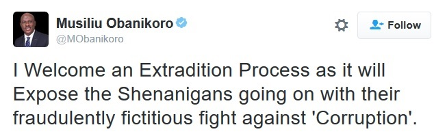 Nigerians Should Join Me in Begging Buhari to Extradite Me from America - Obanikoro Blows Fire!
