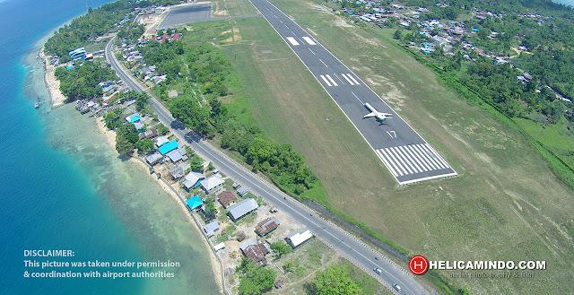 Garuda Indonesia CRJ1000 take off at Rendani Airport taken by Drone