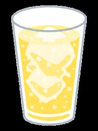 炭酸飲料のイラスト(黄色)