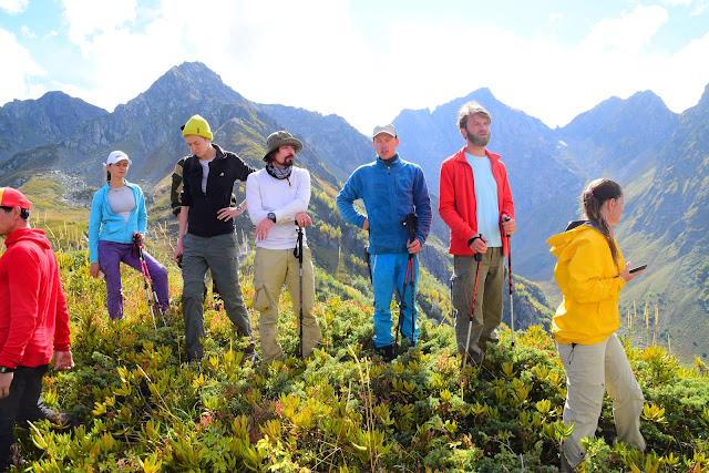 Туристы, Турьи горы, Сочи, Активный отдых, Роза Хутор, Кавказ, Красная поляна, Андрей Думчев