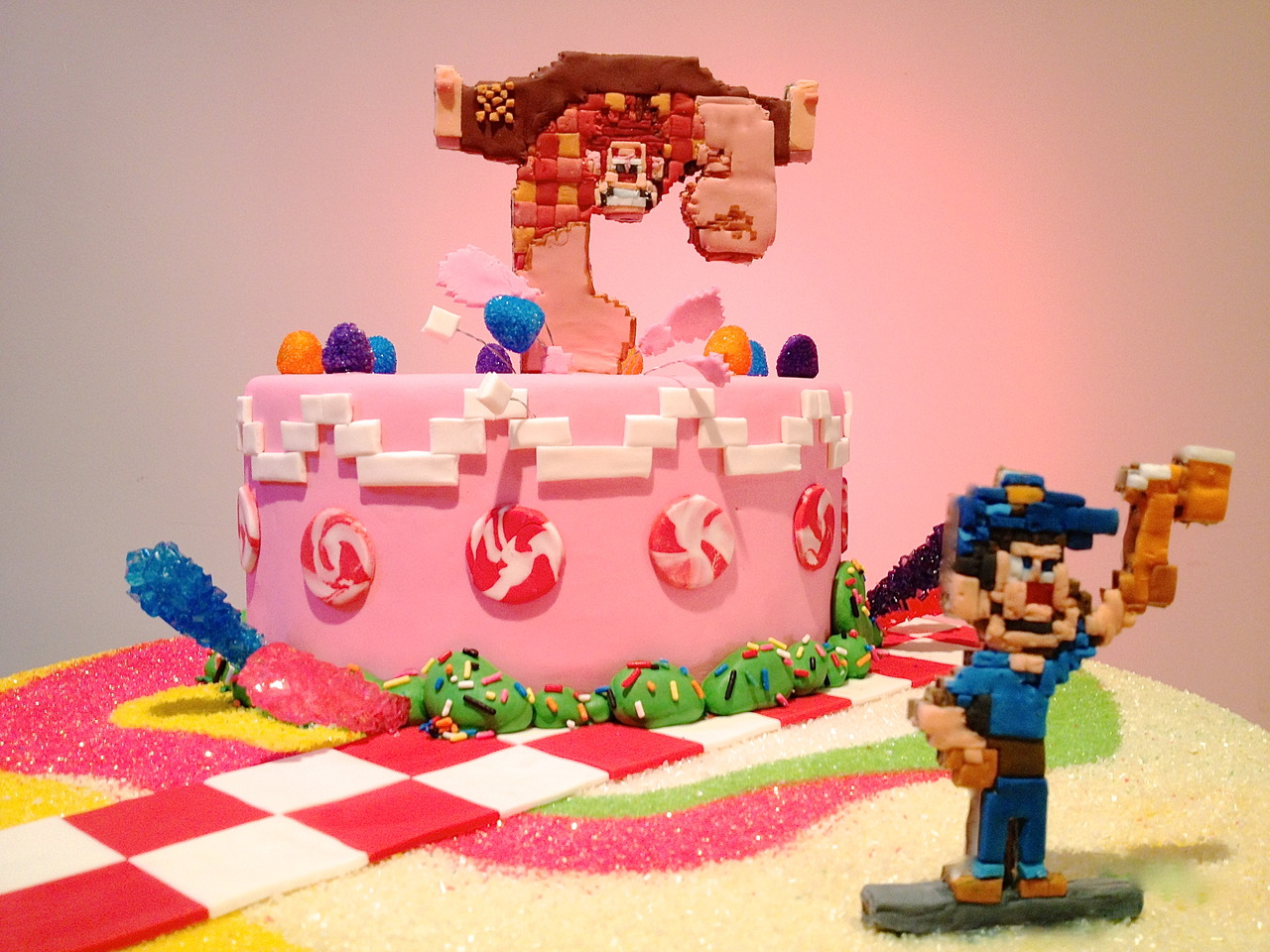 Barbaras Beat Make a WreckIt Ralph game cabinet or cake